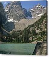 1m9387-v-grand Teton And Delta Lake - V Canvas Print
