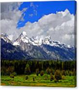 Grand Teton Mountains Canvas Print