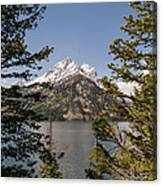 Grand Teton On Jenny Lake - Grand Teton National Park Wyoming Canvas Print