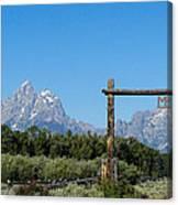 Grand Teton Ranch Canvas Print