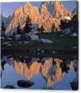 1m9376-grand Teton Reflect 2 Canvas Print