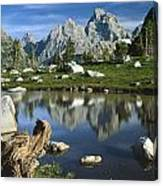 1m9374-grand Teton Reflect Canvas Print