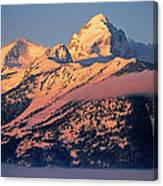 Grand Tetons In Winter Canvas Print