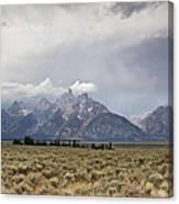 Grand Thunder - Grand Teton National Park - Wyoming Canvas Print