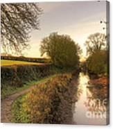 Grand Western Canal At Halberton  Canvas Print