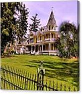 Grand Yellow Victorian And Gate Canvas Print