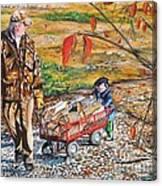 Grandpa's Helper Canvas Print
