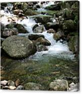 Granite Boulders In A River  Canvas Print