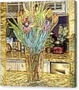 Granite Bouquet Vangogh Vision Canvas Print
