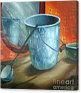 Granite Bucket Reflections Canvas Print