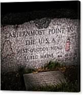 Granite Monument Quoddy Head State Park Canvas Print