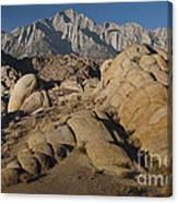 Granite Rock Formations, Alabama Hills Canvas Print