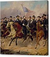 Grant And His Generals Canvas Print
