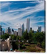 Grant Park Chicago Skyline Panoramic Canvas Print