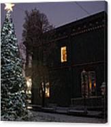 Grants Pass Town Center Christmas Tree Canvas Print
