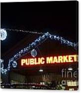Granville Market Christmas Lights Vancouver Canvas Print
