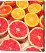 Grapefruit And Oranges Canvas Print