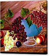 Grapefully Your's Canvas Print