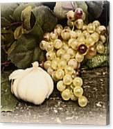 Grapes And Garlic Canvas Print