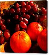 Grapes And Tangerines Canvas Print