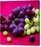 Grapes White And Red Canvas Print
