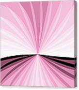 Graphic Pink And White Canvas Print