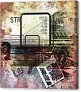 Graphic Square Art Canvas Print