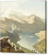 Grasmere From Langdale Fell, From The Canvas Print