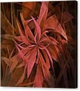 Grass Abstract - Fire Canvas Print