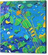 Grass Over Pond Canvas Print