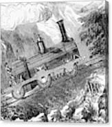 Grassi Locomotive, 1857 Canvas Print