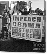 Grassroots Impeach Obama Movement Canvas Print