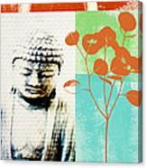 Gratitude Card- Zen Buddha Canvas Print