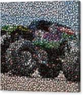 Grave Digger Bottle Cap Mosaic Canvas Print
