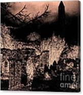 Graveyard At Night Canvas Print