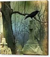 Graveyard Cross Canvas Print