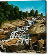 Graveyard Falls Blue Ridge Parkway Canvas Print