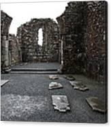Graveyard In Church Ruin - Ireland Canvas Print