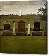 Graveyard Landscape Photograph Canvas Print