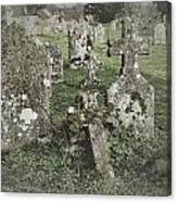 Graveyard Monuments And Gravestones Canvas Print