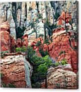 Gray And Orange Sedona Cliff Canvas Print