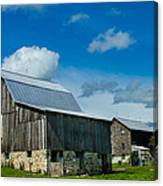 Gray Barn Canvas Print