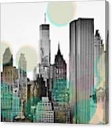 Gray City Beams Canvas Print
