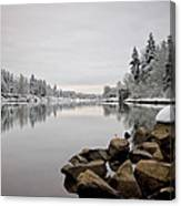 Gray Day In Lake Oswego Canvas Print