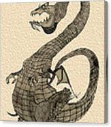 Gray Dragon Canvas Print