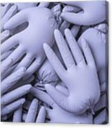 Gray Hands Canvas Print