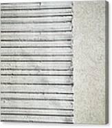 Gray Line Concrete Wal Canvas Print