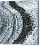 Great Aletsch Glacier Moraine Canvas Print