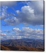 Great Balsam Mountains From Waterrock Knob Canvas Print