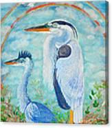 Great Blue Herons Seek Freedom Canvas Print
